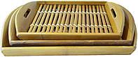 Набор подносов из бамбука, 3 шт.