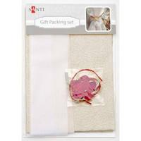 Набор для упаковки подарка, 40*55см, 2шт/уп., бело-золотой 952063