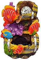 Фонтан рыбки с мельницей и подсветкой