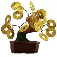 Денежное дерево с монетами 80x80x30