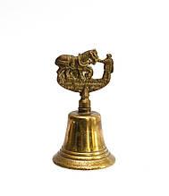 Старий рідкісний дзвіночок, бронза, Англія, 10 см
