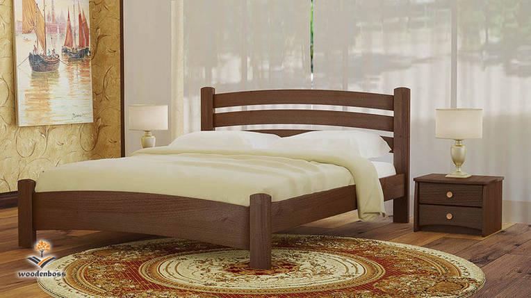 Кровать полуторная из натурального дерева WoodenBoss Милана Макси (спальное место ШхГ - 1400х2000), фото 2