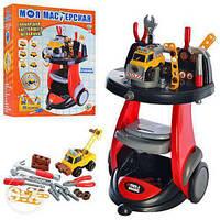 Детский игрушечный Набор инструментов Моя мастерская с тележкой 0446
