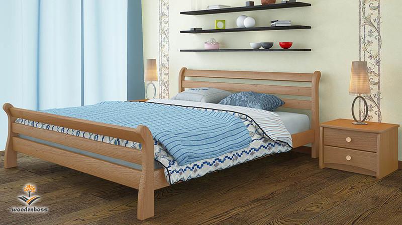Кровать из натурального дерева WoodenBoss Соната люкс
