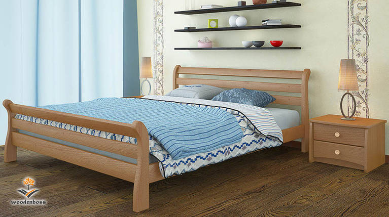 Кровать из натурального дерева WoodenBoss Соната люкс, фото 2