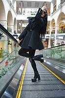 """Женское кашемировое пальто """"Sunny"""" черное ММ-05"""