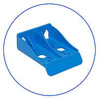 """Кронштейн к корпусам 5"""" и 10"""", синий, одинарный, универсальный, пластиковый. FXBR1PB"""