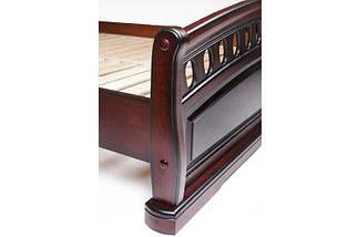 Кровать двухспальная из натурального дерева (Массив дуба) Микс Мебель Флоренция, фото 3