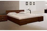 Кровать односпальная из натурального дерева Микс Мебель Каролина с изножьем (спальное место ШхГ - 800х2000)