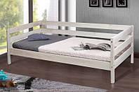 Кровать односпальная из натурального дерева Микс Мебель Sky-3 (белений дуб) (спальное место ШхГ - 800х1900)