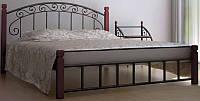 Кровать двухспальная металлическая Афина Металл-Дизайн ШхГ - 160х190 см