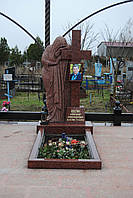 Памятник со скорбящей № 002
