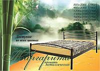 Кровать односпальная металлическая Маргарита Металл-Дизайн ШхГ - 80х200 см