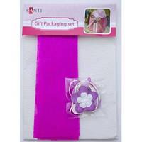 Набор для упаковки подарка, 40*55см, 2шт/уп., бело-розовый 952065