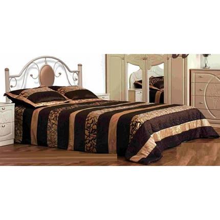 Кровать двухспальная металлическая Лаура Металл-Дизайн ШхГ - 160х190 см, фото 2