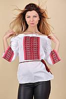 Вышиванка женская с красным орнаментом