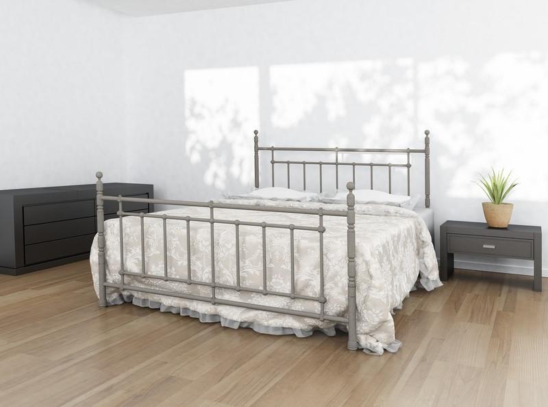 Ліжко односпальне металева Napoli / Неаполь Метал-Дизайн / Metall Design