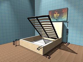 Ліжко-подіум з м'яким узголів'ям New York Corners / Корнерс, фото 3