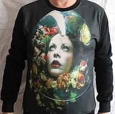 Толстовка свитер с цветным принтом, фото 3
