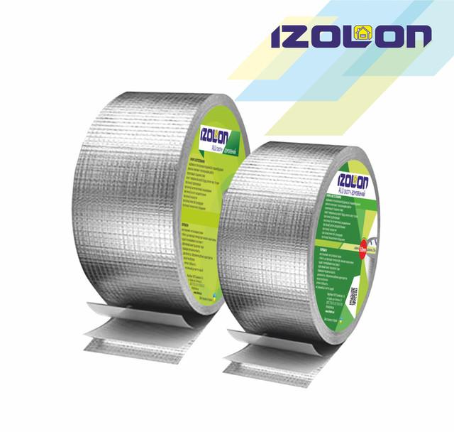 Скотч алюминиевый армированный IZOLON АLU