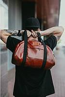 Мужская кожаная сумка I.C.Training Bag brown , фото 1