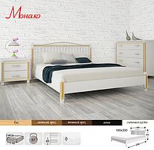 Кровать двухспальная из натурального дерева АУРЕЛЬ Монако ШхГ - 160х200 см, фото 3
