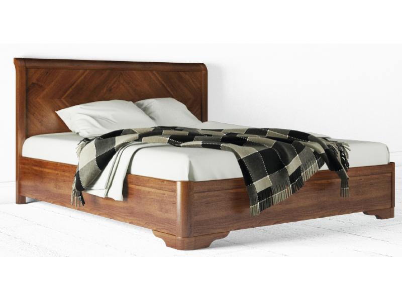 Ліжко півтораспальне з натурального дерева АУРЕЛЬ Мілена ШхГ - 140х200 см