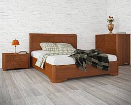 Ліжко півтораспальне з натурального дерева АУРЕЛЬ Мілена ШхГ - 140х200 см, фото 2
