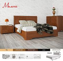 Ліжко півтораспальне з натурального дерева АУРЕЛЬ Мілена ШхГ - 140х200 см, фото 3