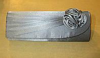 Клатч серый с розой, фото 1