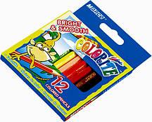 """Карандаши цветные Marco """"Colorite"""" 12шт/набор укороченные. Купить цветные карандаши оптом"""