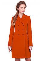 Оригинальное осеннее пальто с отложным воротником