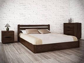 Ліжко півтораспальне з натурального дерева АУРЕЛЬ Софія з підйомним механізмом ШхГ - 140х190 см, фото 2
