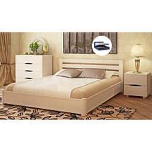 Кровать двухспальная из натурального дерева АУРЕЛЬ София с подъёмным механизмом ШхГ - 200х200 см, фото 2