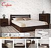 Кровать двухспальная из натурального дерева АУРЕЛЬ София с подъёмным механизмом ШхГ - 200х200 см, фото 3
