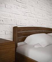 Двоспальне ліжко з натурального дерева АУРЕЛЬ Софія Люкс з підйомним механізмом ШхГ - 200х190 см, фото 3
