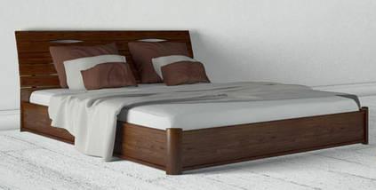 Кровать двухспальная из натурального дерева АУРЕЛЬ Марита Люкс с подъёмным механизмом ШхГ - 180х190 см, фото 2