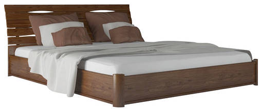 Кровать двухспальная из натурального дерева АУРЕЛЬ Марита Люкс с подъёмным механизмом ШхГ - 160х200 см, фото 3