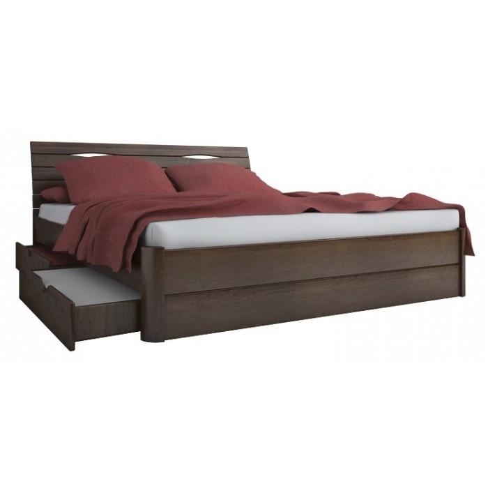 Кровать двухспальная из натурального дерева АУРЕЛЬ Марита Макси (4 ящика) ШхГ - 200х190 см