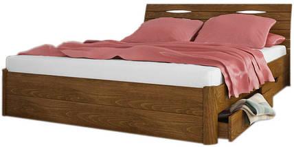 Кровать двухспальная из натурального дерева АУРЕЛЬ Марита Макси (4 ящика) ШхГ - 200х190 см, фото 2