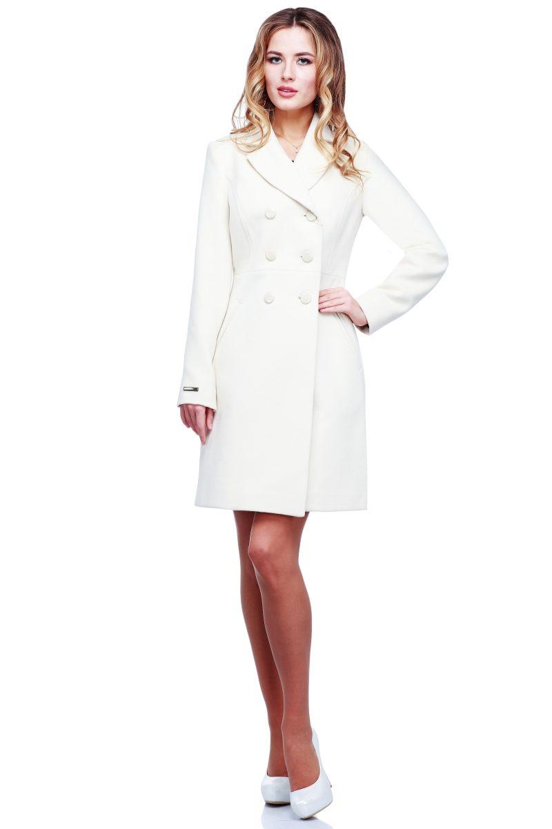 Легкое фактурное кашемировое пальто