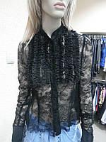 Блуза черная гипюр