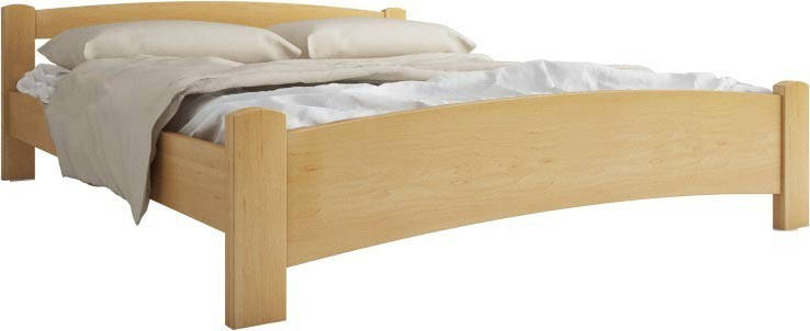 Ліжко односпальне з натурального дерева АУРЕЛЬ Мілана ШхГ - 90х190 см, фото 2