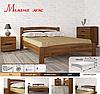 Кровать полуторная из натурального дерева АУРЕЛЬ Милана Люкс ШхГ - 120х190 см, фото 2