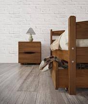 Кровать полуторная из натурального дерева АУРЕЛЬ Ликерия Люкс ШхГ - 120х190 см, фото 3