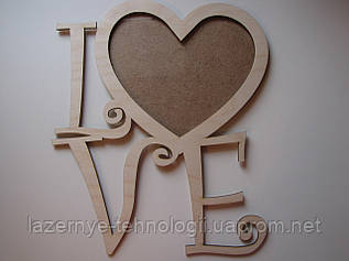 "Фоторамка ""LOVE замысловатая"""