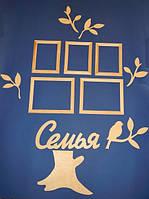 Набор СЕМЬЯ (Рамки для фото. Коллаж) заготовки для декупажа и декора