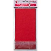 Набор красных заготовок для открыток, 10см*20см, 230г/м2, 5шт. 952296