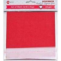 Набор красных заготовок для открыток, 15см*15см, 230г/м2, 5шт. 952286
