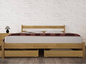 Двоспальне ліжко з натурального дерева АУРЕЛЬ Джулія ШхГ - 160х190 см, фото 2